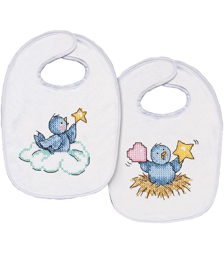 Tobin Balloon Ride Bibs stamped-cross-stitch Kit 7.5X11 Set Of 2 makes for a very useful product for new mothers. This pre-finished bib stamped-cross-stitch kit comes with two pre-finished quilted bib
