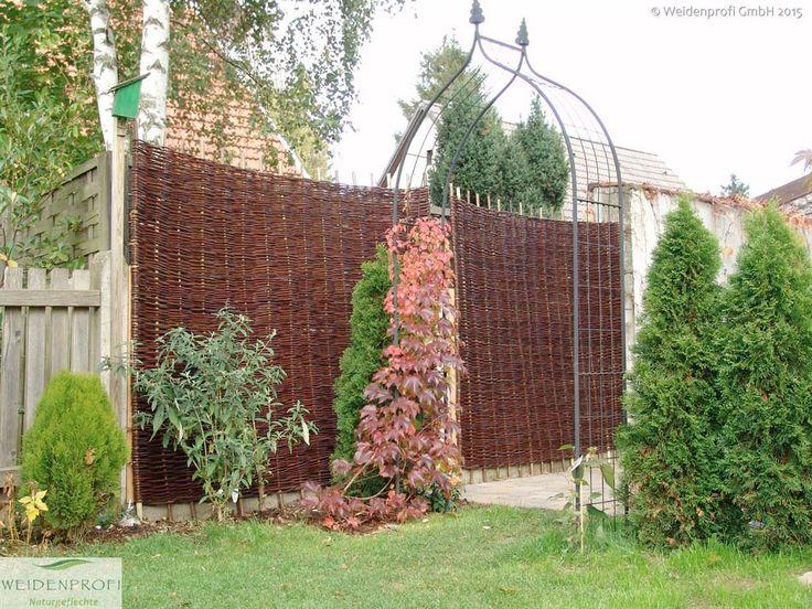 Bildergarlerie Serie BALDO - Weidenzäune ohne Rahmen - rustikaler - gartenabtrennung zum nachbarn