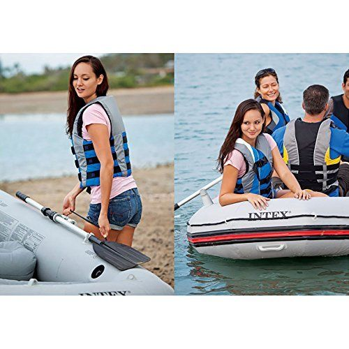 #marineelectronics Intex Mariner 4, 4-Person Inflatable Boat Set with Aluminum Oars and High Output Air Pump (Latest Model): We are now…