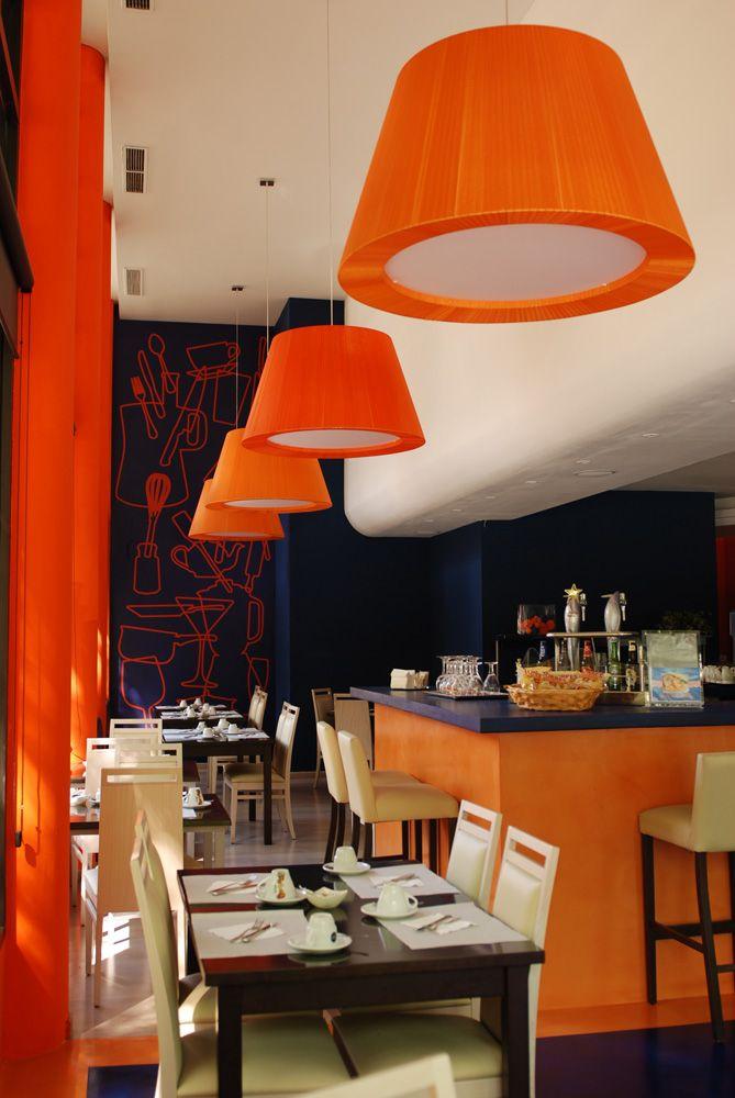 Ideas de #Restaurante, estilo #Contemporaneo color  #Rojo,  #Blanco,  #Negro, diseñado por ESPAI SENSUS S.L.  #CajonDeIdeas