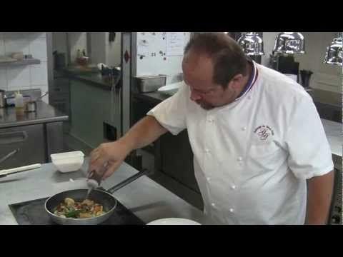 Gilles Goujon prepares a dish at his Auberge du Vieux Puits - YouTube