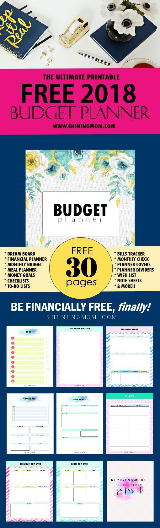 Free budget binder 2018 printable!