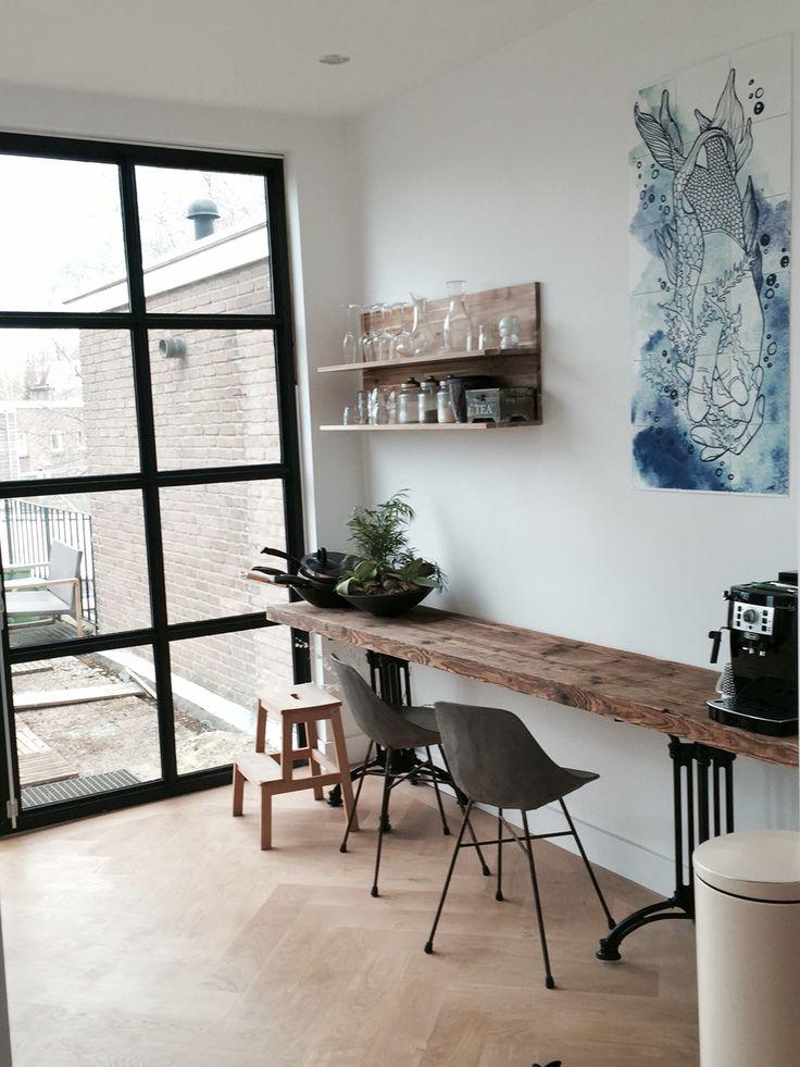 industrial shelves and the o 39 jays on pinterest. Black Bedroom Furniture Sets. Home Design Ideas