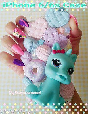 Unicorn Phone Case,Kawaii Decoden Phone Case,Decoden iPhone 6/6s My Pony Phone