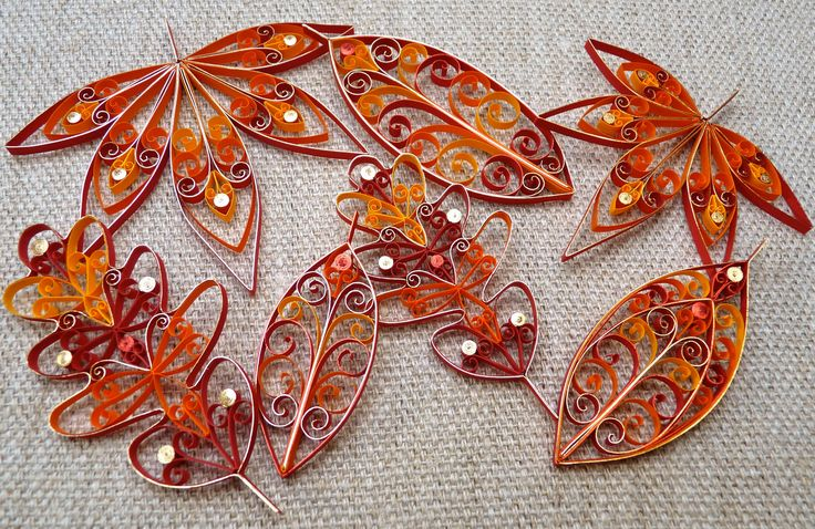 Fall Leaves Hanging Decorations