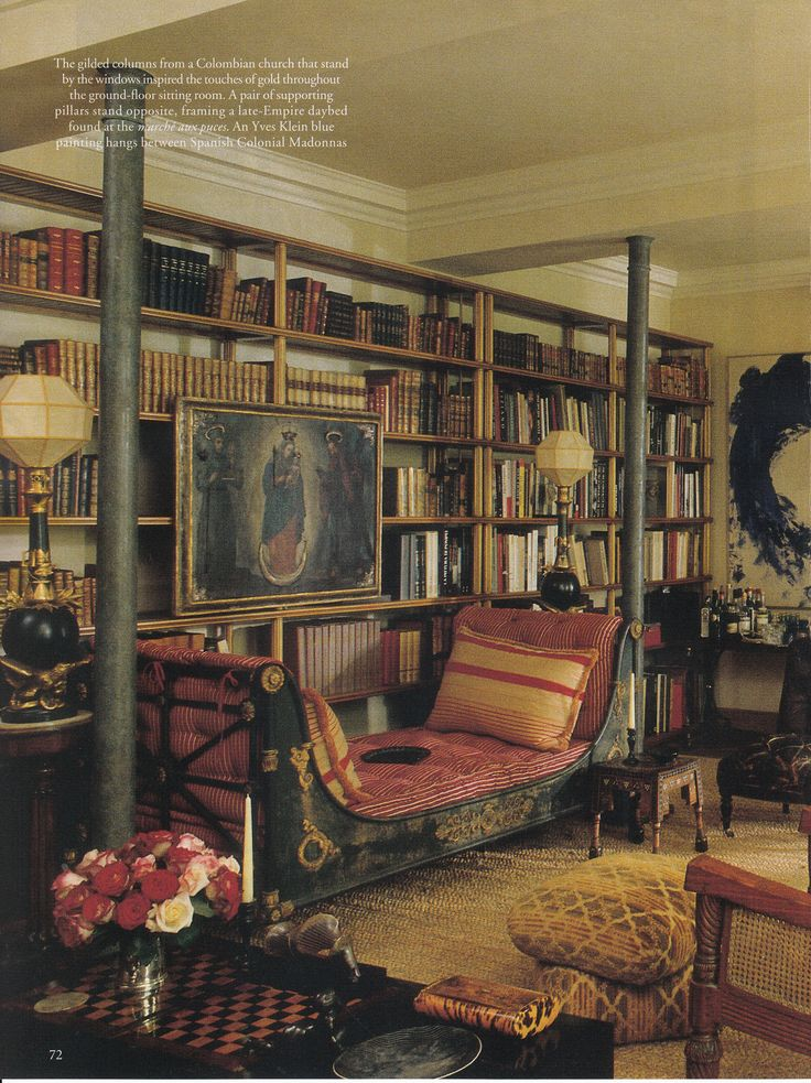 Room of the Day ~ Interior Design Verde Visconti, 18th Century house in Paris's 7th Arrondissement. World of Interiors August 2013. Photo: Jacques Dirand