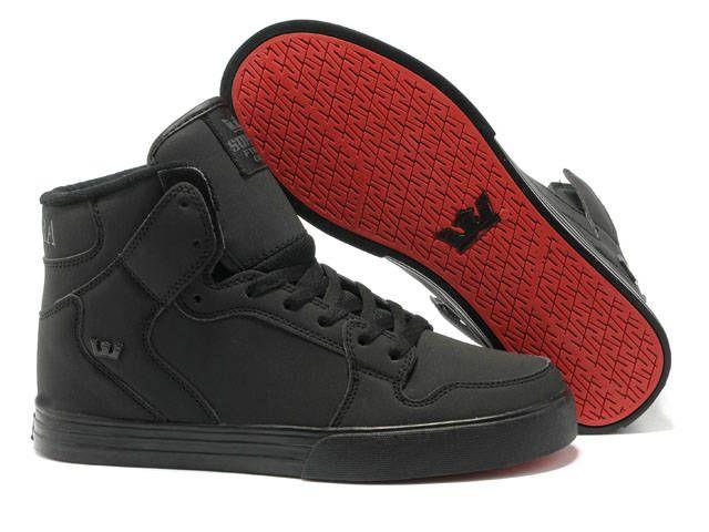 New Supra Vaider Black Red Sole Men\u0026#39;s Shoes | Cheap Supra Shoes ...