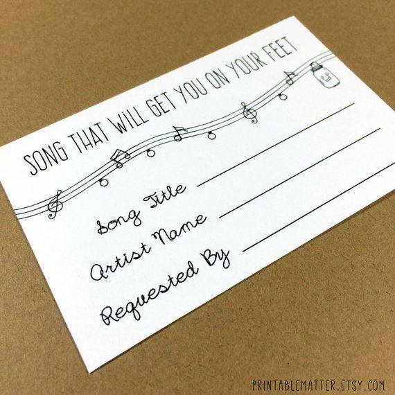ANNABELLE: Editable Wedding Song Request Card – Rustic Mason Jar Lights – DIY Printable – Instant Download File – InvitationIdealPin