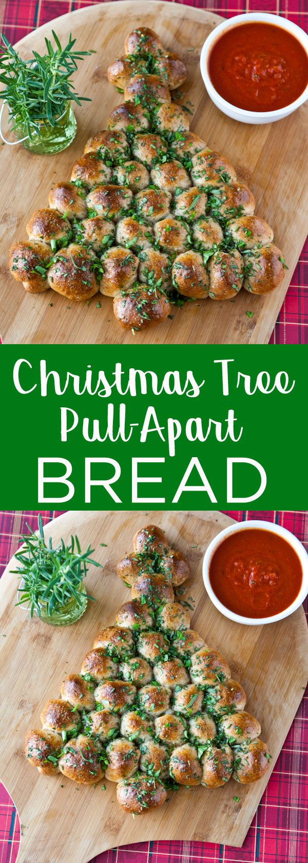 Cheesy Christmas Tree Pull-Apart Bread