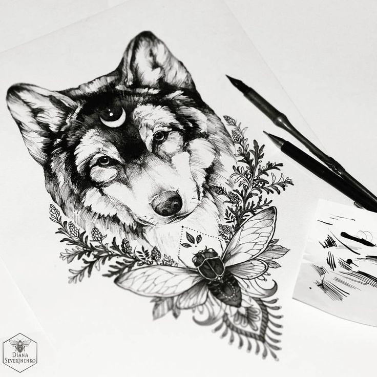 Le loup et la lune