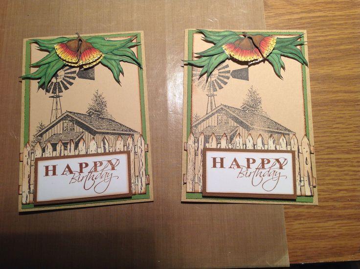 Marvelous Kaszazz Card Making Ideas Part - 6: Aussie Farm Theme Using Kaszazz Stamps U0026 AIAMs