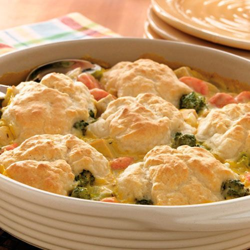 What to do with the leftover turkey dinner fixings? Turkey Vegetable Cobbler - Use up leftover turkey and the veggies and dip survivors - mix up a little pizzazz and a biscuit topping - Easy Peasy - Pampered Chef