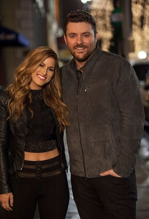 Chris Young & Cassadee Pope, Cassadee Pope and Chris Young on the set of the…                                                                                                                                                                                 More