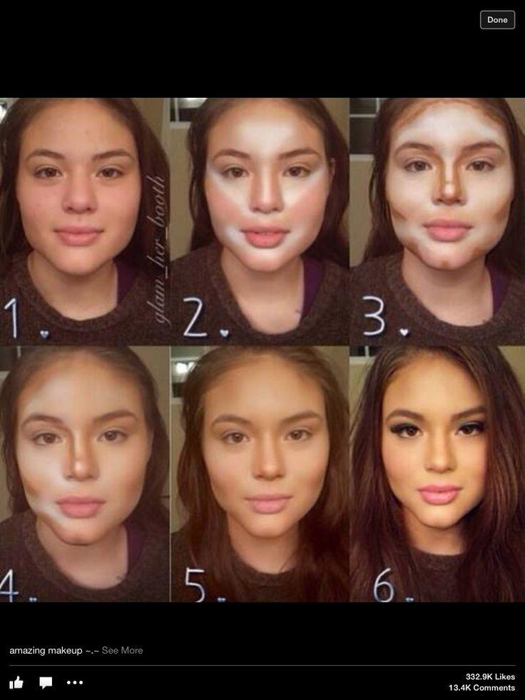 17 najlepszych obrazów na Pintereście na temat tablicy Contour make-up