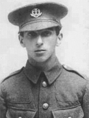 "Aby Bevistein. ""Dear mother, I'm in the trenches and I was ill so I went out, and they took me to the prison and I'm in a bit of trouble now.""  The following month Aby then aged 17, became one of the 306 British soldiers executed during the Great War."