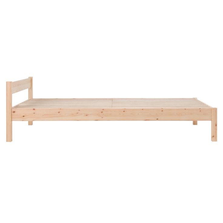パイン材ベッド・シングル(2009SS) 幅100.5×奥行201.5×高さ58 | 無印良品ネットストア