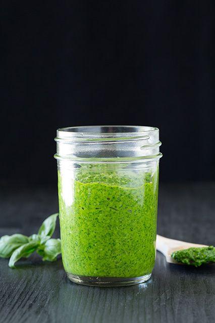 Basil Pesto {How to Make Beautifully Green Pesto} - Cooking Classy