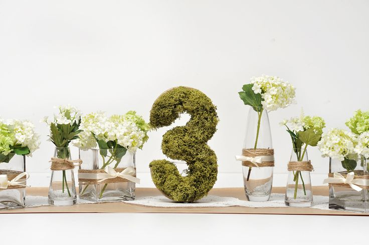 DIY Wedding table number and table decoration ideas; Country Baskets. http://www.countrybaskets.co.uk/blog/2013/04/19/natural-wedding-theme-diy-ideas/