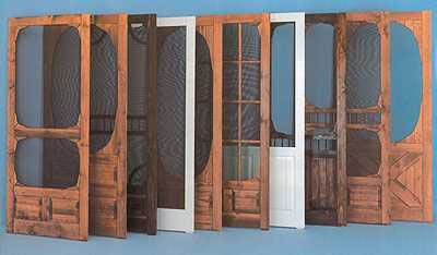 Unique Screen Doors | you call we screen custom wooden screen doors are a great way to cool ...
