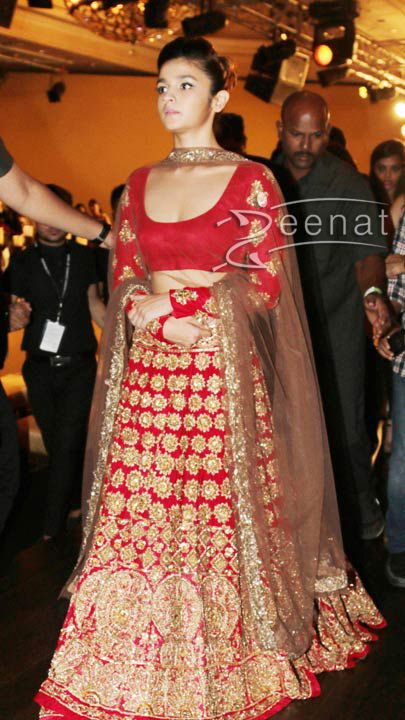 Aalia Bhatt looking stunning in manish malhotra bridal lehenga. #bride #brides #bridal #indianbride #indianwedding #wedding #marriage #india #photography #lehenga #lehnga #lehngha #choli #outfit #couture