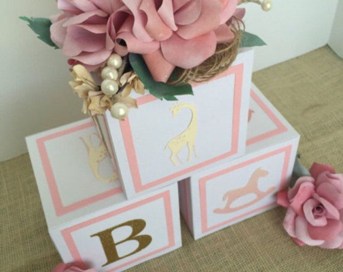 Small Alphabet Blocks Baby Shower Decorations Home