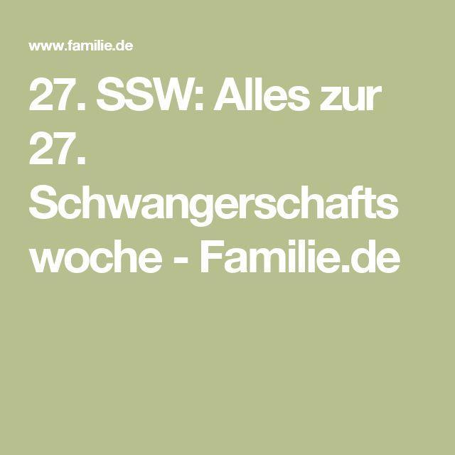 27. SSW: Alles zur 27. Schwangerschaftswoche - Familie.de