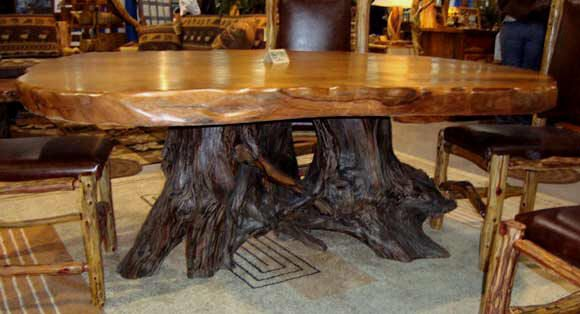 Some of these are $8000 for a single piece of wood!  Furniture  Pinterest   Rustic wood, Rustic wooden table and Rustic wood tables