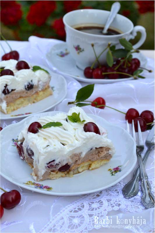 Barbi konyhája: Gesztenyés meggyes kocka - sütés nélkül