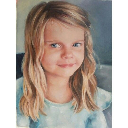 A portrait commission in oils. 25x35cm