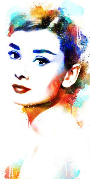 Audrey Hepburn Art Print                                                                                                                                                                                 Mais