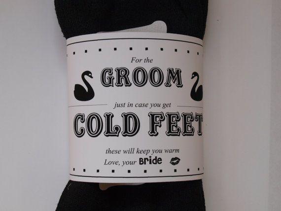 Groom Socks, Warm Feet, Wedding Socks, Groom Gift with Wrap on Etsy, $9.99