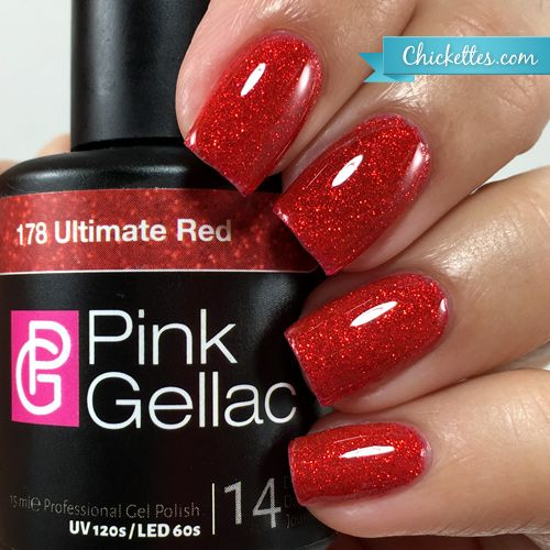 nails.quenalbertini: Pink Gellac Ultimate Red | Chickettes