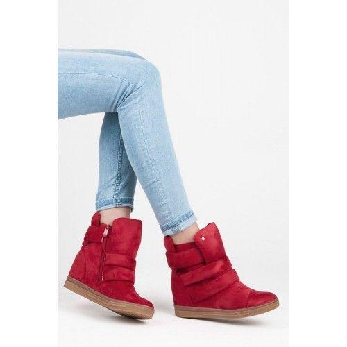 Dámské kotníkové boty Hadiya červené – červená Tyto skvělé kotníkové boty jsou fantastické na nošení během chladné sezóny. Především proto, že udrží vaše nohy v suchu a v bezpečí. Tenisky se zapínají pomocí zipu a …