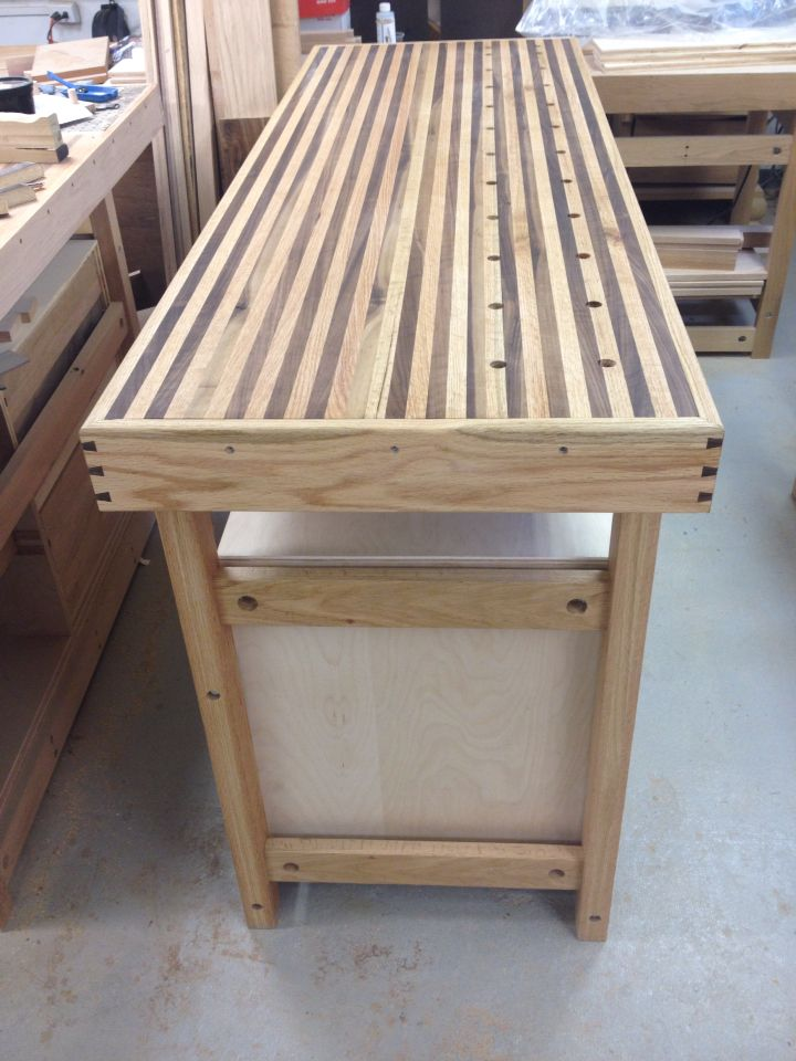 Oak and Walnut work bench