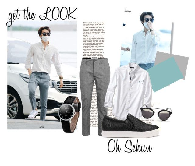 Get The Look: Oh Sehun by ninjasofia on Polyvore featuring D-ID, Banana Republic and Topman