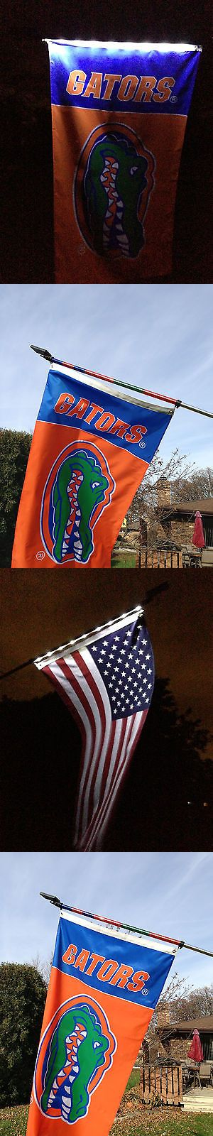 Jerseys 60597: University Of Florida Flag With A Solar Powered Flagpole ( Includes U.S. Flag ) -> BUY IT NOW ONLY: $74.99 on eBay!