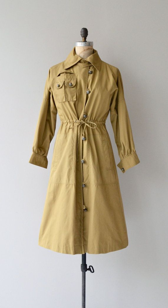 Peabody Trench vintage 70s trenchcoat 1970s belted by DearGolden