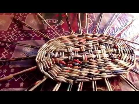 Мастер Класс по Плетению из Газетных Трубочек ! Овальное Донышко - YouTube