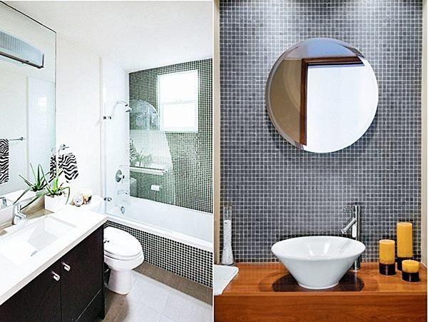 As pastilhas são, em muitos casos, revestimentos com preço acessível e que produzem um efeito que valoriza muito os banheiros e lavabos. Vamos lá ver 20 inspirações para você usar este revestimento?