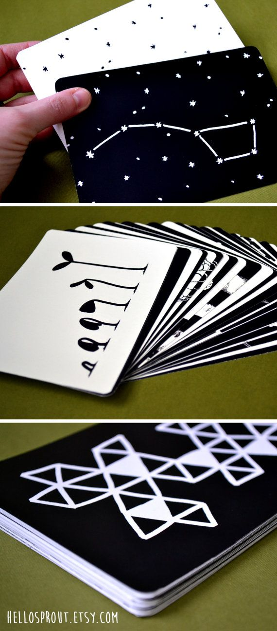 Black and White Baby Activity Cards Printable by HelloSprout