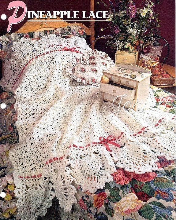 Pineapple Lace Afghan Annies Crochet Pattern Crochet
