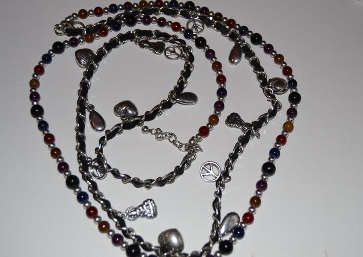 Collar perlas de colores 5 euros