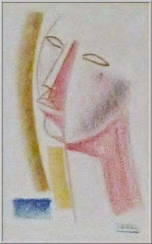 Mario Tozzi 1978: Volto. Pastello su Carta - cm.(22x17) - Collezione Privata Milano - Archivio numero 2113.