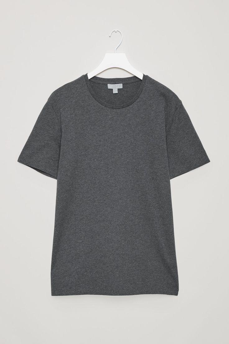 COS image 7 of Round-neck t-shirt in Black melange