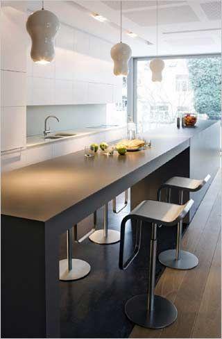 17 beste idee n over kookeiland tafel op pinterest eiland tafel hedendaagse keukens en - Keuken met bar tafel ...