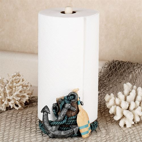Nautical Paper Towel Holder Multi Metallic