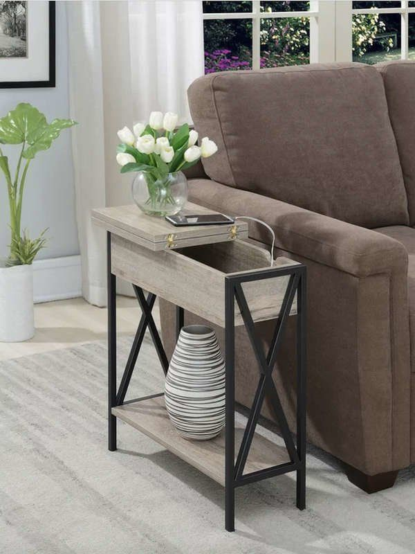 These Pieces Of Furniture Will Make Your Room Feel Bigger In 2020 Table Decor Living Room Side Table Decor Living Room Side Table
