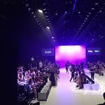 Ready and waiting in the media riser for the first show #mbfwa #weekendedition