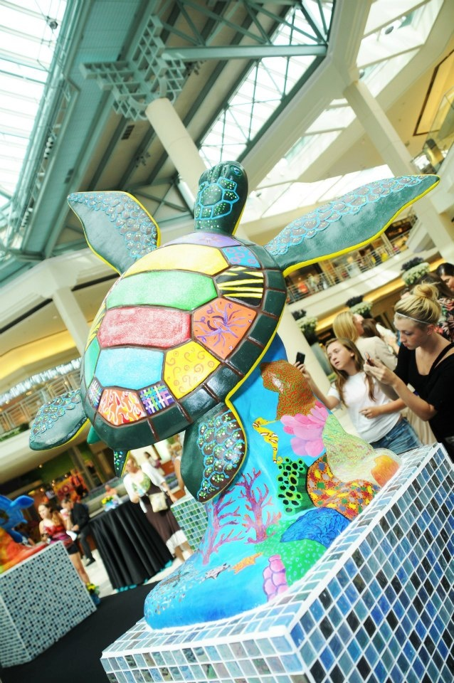 """""""Contemporary"""" turtle sculpture painted by art students from Palm Beach Gardens High School."""