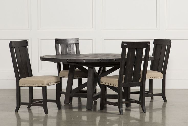 100+ Black Round Dining Table and Chairs - Cool Modern Furniture Check more at http://livelylighting.com/black-round-dining-table-and-chairs/